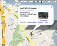 Map and Directions to Louie's Deli